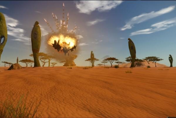 Planet Arkadia Oilrig Explosion